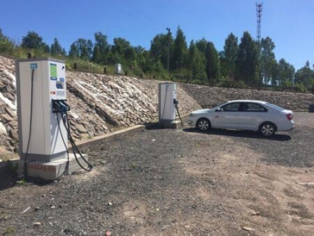 Три новые электрозаправки появились на трассе «Скандинавия»