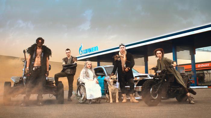 Гранж, fashion-киборги и постапокалипсис. АЗС «Газпромнефть» как место встречи с равными возможностями для всех