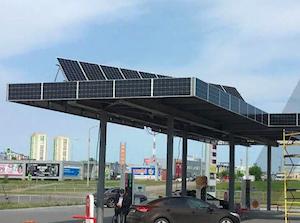 Delta Solar оснастила солнечными модулями крышу АЗС в Набережных Челнах
