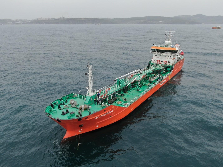 Новый танкер «РН Приморье» совершил первый рейс по доставке нефтепродуктов из Находки на Сахалин